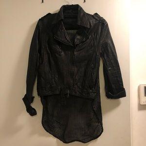Giorgio Brato Laser cut Leather Shirt Jacket Sz 42
